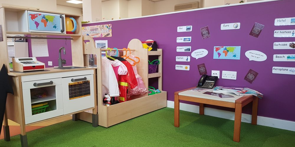 preschool role play area